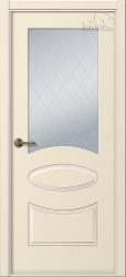 Белорусские двери Элина слоновая кость стекло