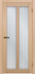 Двери Матадор Гермес белёный дуб, стекло мателюкс с художественным рисунком