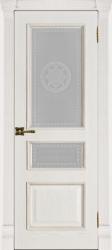 Двери Регионов Гранд 2 дуб патина Bianco стекло