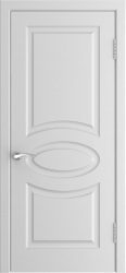 Дверь L-1 белая эмаль