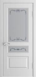 Дверь L-1 белая эмаль стекло