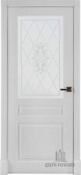 Межкомнатная дверь Турин белая эмаль стекло Италия