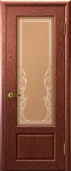 Двери Регионов Валенсия 1 Красное дерево стекло бронза сатинато Ривьера