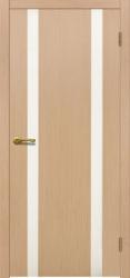 Двери Матадор Веста 2 белёный дуб, каленое стекло мателюкс